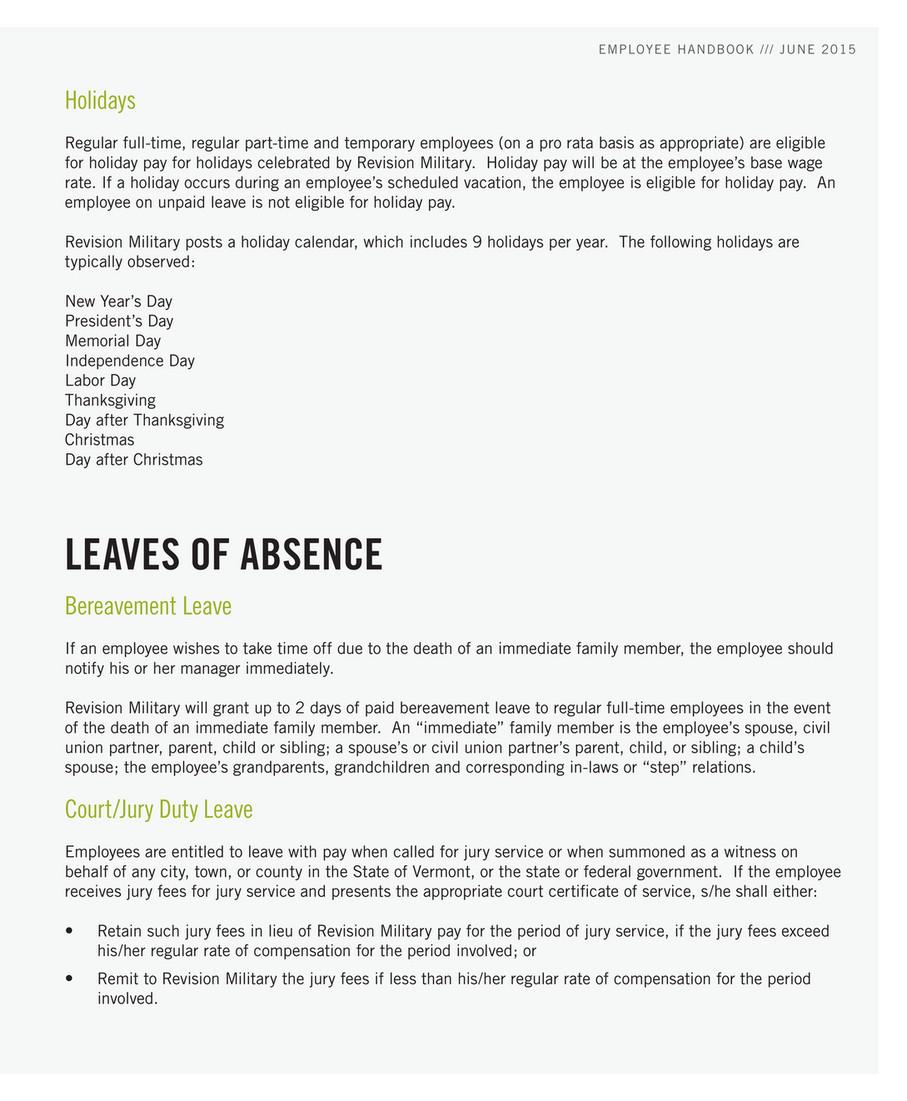 Revision - US Employee Handbook - June 2015 - Page 6-7